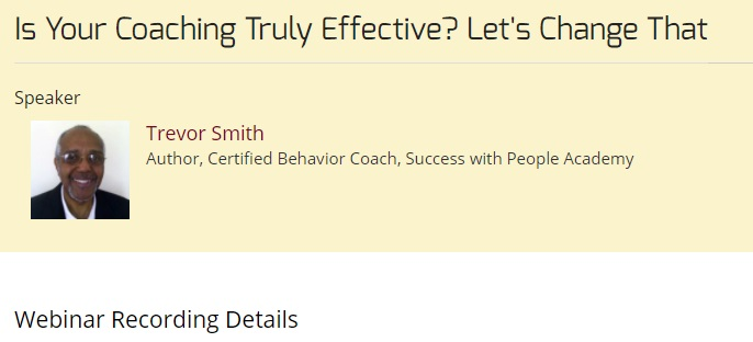 Is Your Coaching